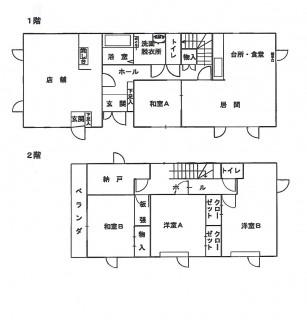 七飯町字上藤城155-10間取図
