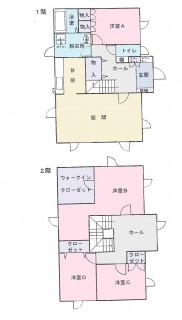 七重浜3丁目374-14間取図